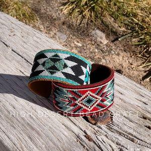 Jewelry - Beaded Metal Cuff Bracelets
